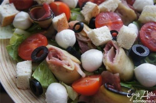 Як приготувати салат з рулетами з баклажана і бекону рецепт страви з фото