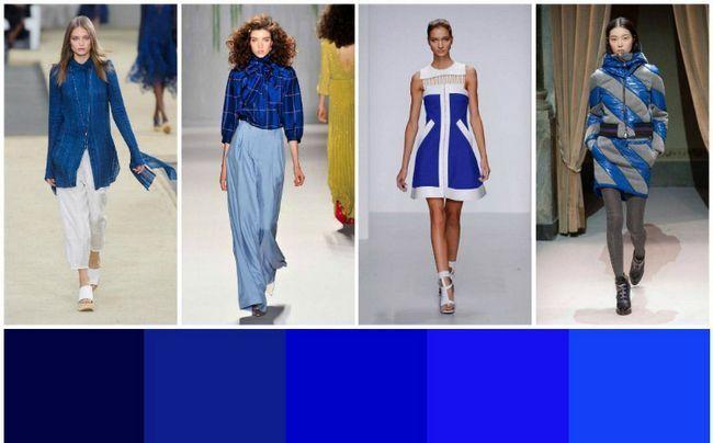 З чим сполучається синій колір в одязі фото
